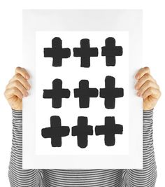 Modern art print swiss cross mod digital by MyDaisyDownloads