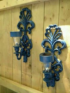 of Two Outdoor Solar Light Sconces for Fence or Side of House. Outdoor Decor Set of Two Outdoor Solar Light Sconces for Fence or Side of House.Set of Two Outdoor Solar Light Sconces for Fence or Side of House. Solar Licht, Outdoor Lighting, Outdoor Decor, Lighting Ideas, Backyard Lighting, Outdoor Lamps, Backyard Pergola, Outdoor Art, Lighting Concepts