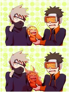 Obito: Kakashi, what do I do? Obito: Oh. Naruto And Sasuke, Naruto Cute, Anime Naruto, Naruto Shippuden, Anime Manga, Boruto, Kid Kakashi, Akatsuki, Naruto Birthday