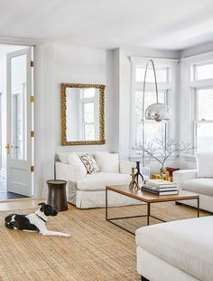 Jane Francisco Home Tour - How the Good Housekeeping Editor-in-Chief Renovated Her House Ikea Living Room, Living Room Carpet, Living Rooms, Lohals, Ikea Rug, Home Rugs, Rustic Farmhouse Decor, Living Room Inspiration, Victorian Homes