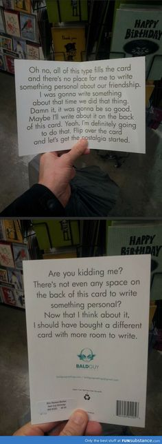 The Perfect Card When You Don't Know What To Write..