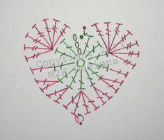 Easy #Crochet Heart Pattern