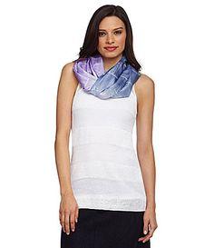 Eileen Fisher Shibori Silk Scarf #Dillards