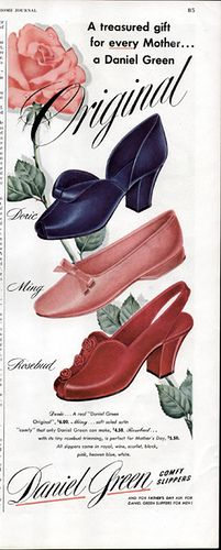 I love 40s shoes, they have the prettiest lines, just so classy  1940s Daniel Green Shoes