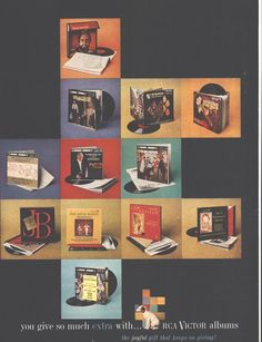 RCA Victor Albums (Both Sides) Lord Calvert Whiskey Christmas Page LIFE December 14 1959