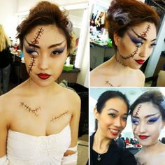 The perfect balance of horror and hubba-hubba with this fabulous Bride of Frankenstein look by Global Makeup student Luna Lin <3