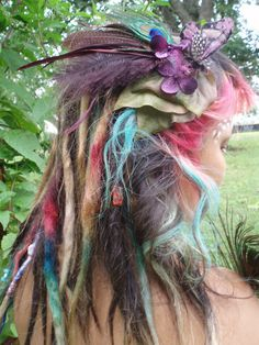 dreads of many colors