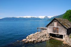 Boat House on Sognefjord, Norway
