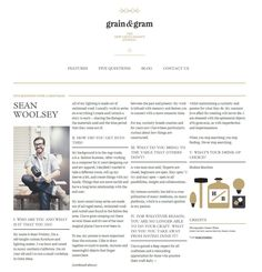 Website Interface : Application of Editorial Rules ( by Grain and Gram, http://grainandgram.com ) #WebDesign