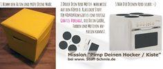 Küchen Herd selbernähen - Stoff DIY Anleitung + gratis Freebie für den Druck zum selber Gestalten - www.Stoff-Schmie.de