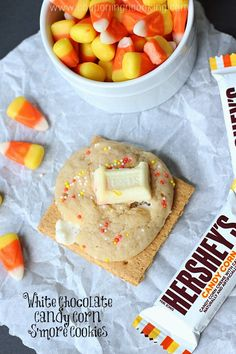 White Chocolate Candy Corn S'more Cookies | Couponing & Cooking
