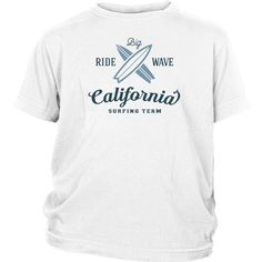 Ride Big Wave California Surfing Team - Surf T-Shirt Collection - Youth
