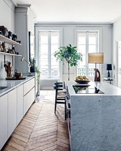 "1,027 gilla-markeringar, 9 kommentarer - S T I L T J E (@stiltje.se) på Instagram: ""Look what a rustic flooring makes to an apartment. Home feeling. Picture from @officialvogueliving…"""