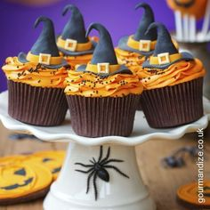 Witchhat Gingerbread Cupcakes