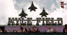 "Thomas Campbell on Twitter: ""The @usairforce flies over Kyle Field in #F22…"