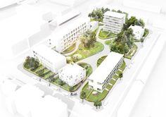Landscape Model, Landscape Architecture Design, Architecture Graphics, Landscape Plans, Urban Landscape, Urban Design Plan, Parking Design, Urban Planning, How To Plan