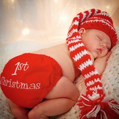 Baby 1st Christmas Baby Christmas Outfit Baby girl by SewChristi                                                                                                                                                                                 More