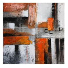Orange Abstract Ii Oil Painting Canvas