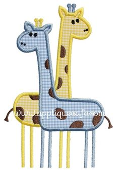 Giraffes Applique Design