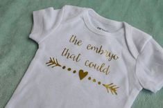 The Little Embryo That Could bodysuit- IVF baby- newborn outfit- going home…