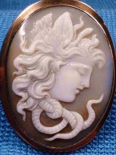 Medusa, shell, victorian