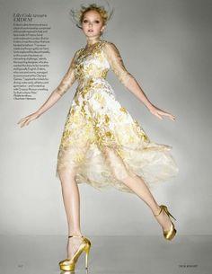 Lily Cole in Erdem. Vogue UK Sept '12