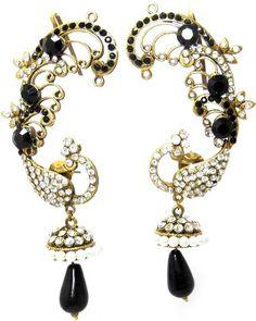MKJewellers Peacock Ear Cuffs 6957 Brass Cuff Earring