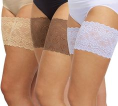 Bandelettes Thigh Bands - is a new fashion accessory offering a glamorous way to prevent thigh chafing. Thigh Bands are made of soft stretchy lace with silicone inside designed to provide comfort and decorate your thighs.