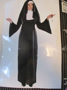 HOLY SISTER NUN ADULT 3 PIECE UNISEX COSTUME ONE SIZE FITS MOST