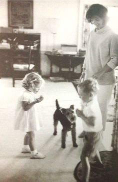thosekennedys:  Caroline and Stephen Smith Jr. playing in Hyannis Port during the summer of 1961.  Look at Charlie :)