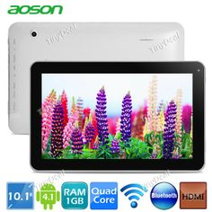 "(AOSON) M1013 10.1"" HD Screen Android 4.1 8GB Quad-core Tablet PC w/ WiFi Bluetooth HDMI CPU 1.3GHz RAM 1GB http://www.tinydeal.com/aoson-m1013-px250pz-p-106384.html"