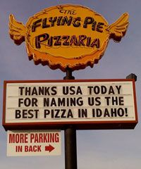"""Flying Pie Pizzaria"" Boise, ID"