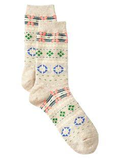 Cozy multi-color Fair Isle socks | Gap