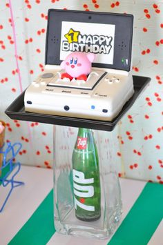 Nintendo Console Cake from a Nintendo Inspired Video Game Birthday Party via Kara's Party Ideas KarasPartyIdeas.com (34)