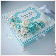 Купить Коробочка для денежного подарка бирюза - коробочка для денег, подарок на свадьбу, на свадьбу, свадьба, для молодоженов
