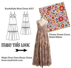Make this look. Place that matches patterns with clothing items. Some cute things to make.