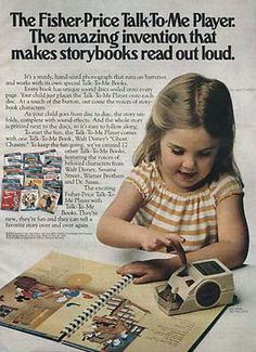 The books had what looked like a little record and you put the player on it and it read to you.