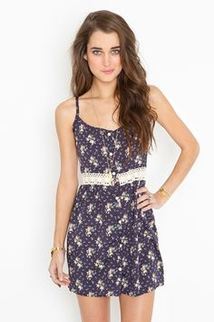 button up floral dress with lace belt