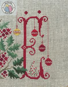Xmas Cross Stitch, Cross Stitch Embroidery, Family Ornament, Christmas Cross, Pin Cushions, Blackwork, Needlework, Diy And Crafts, Christmas Decorations