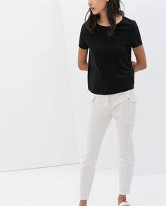ZARA - 여성 - 오가닉 코튼 티셔츠