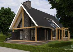 WoonSubliem - Laat je inspireren door deze unieke huisontwerpen Loft Design, House Design, Passive House, Wooden Diy, Cabana, Home And Living, Building A House, House Plans, New Homes