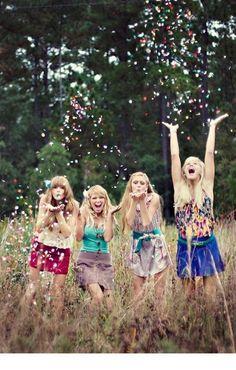 Confetti Friends photo shoot
