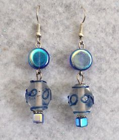 Lampwork and Glass Beaded Dangle Earrings  by uniquelyyours2010, $5.00