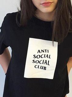 unique Tattoo inspiration 2017 - girlgotoschool: Designer Tops for U  ANTI SOCIAL SOCIAL CLUB...