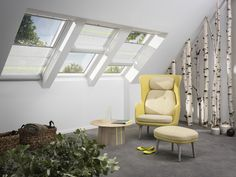 Velux Skylight Windows are perfect for adding light to your dim room. Spruce it up by bringing nature inside. Distributed by Casco Industries, Inc.