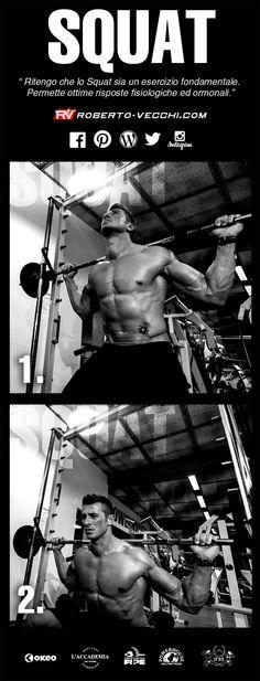 LO SQUAT. ESERCIZIO FONDAMENTALE PER OTTENERE OTTIME RISPOSTE FISIOLOGICHE EDORMONALI. Ritengo che lo Squat sia un esercizio fondamentale, esso non può mancare nei vostri programmi di allenamento. Lo squat è con tutta probabilità l'esercizio migliore per tonificare e rinforzare la muscolatura degli arti inferiori, inoltre permette ottime risposte fisiologiche ed ormonali come ad esempio il testosterone ed il Gh endogeno. www.roberto-vecchi.com