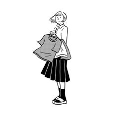 no.104 遠くに雨雲 Illustration Art Drawing, People Illustration, Character Illustration, Simple Line Drawings, Easy Drawings, Black And White Doodle, Japan Design, Comic Styles, Drawing People