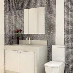 Banheiro com revestimento em Pastilha