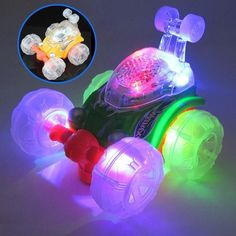 Colorful Light Flashing Cars with Alarm Music Gimbal Armour Vehicle Model Funny Toy Kids Birthday Gift