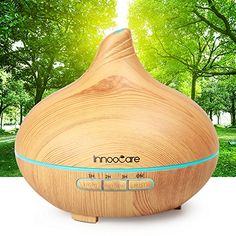 Essential Oil Diffuser Wood Grain with Skid Resistance and Noise Reduction Design InnooCare Cool Mist Humidifiers Ultrasonic Aroma Diffuser for Office Home Living Room Bedroom Yoga SPA Aroma Diffuser, Essential Oil Diffuser, Essential Oils, Spa, Living Room Decor Inspiration, Cool Mist Humidifier, Noise Reduction, Color Changing Led, Living Room Bedroom
